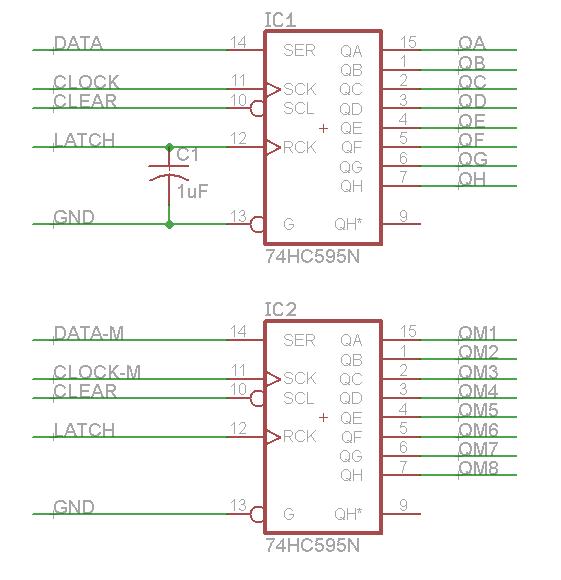 74HC595 Shift Registers
